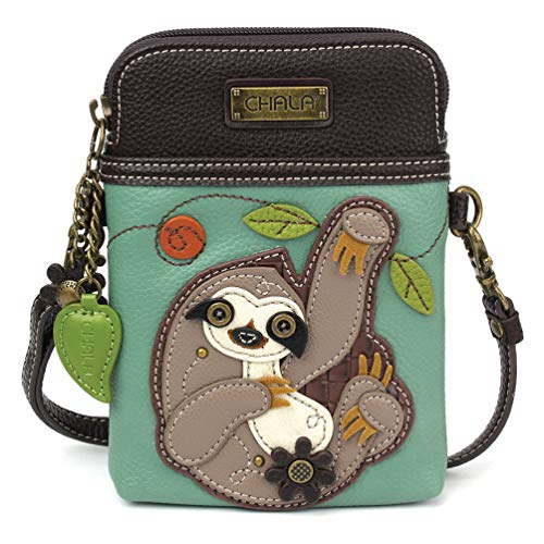 Trendy Sloth Cross Body Cell Phone Purse for Women