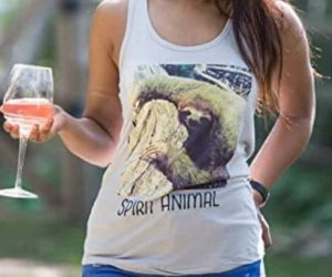 Trendy and Cute Sloth Racerback Tank Top for Women