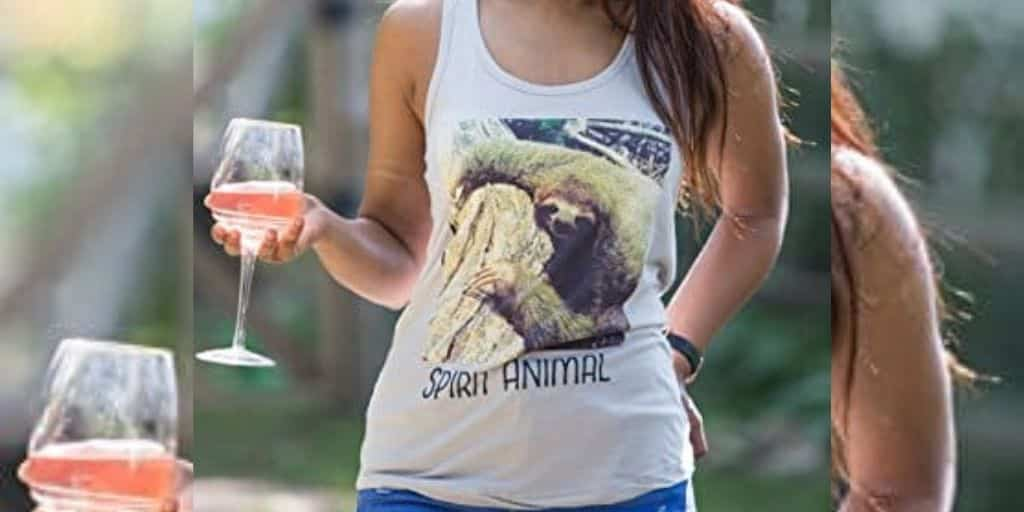 Trendy and Cute Sloth Racerback Tank Top for Girls
