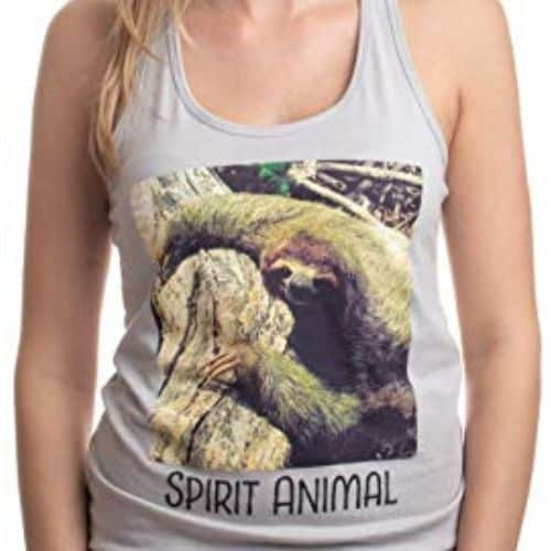 Trendy and Cute Sloth Racerback Tank Top for Ladies