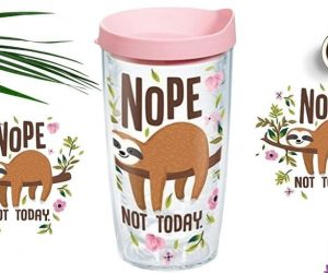 Captivating Sloth Nope Not Today Insulated Tumbler