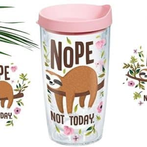 Adorable Sloth Nope Not Today Insulated Tumbler