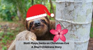 Sloth Plays Santa on Christmas Eve A Short Children Story (1)