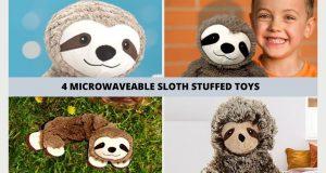 4 Sloth Microwavable Warmer Stuffed Animals Microwavable Sloth