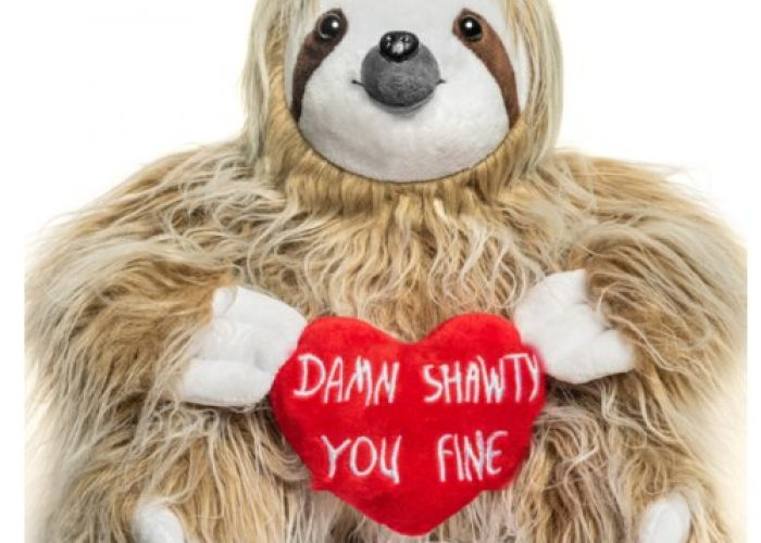 Adorable You Fine Valentine Sloth Stuffed Bear Gift