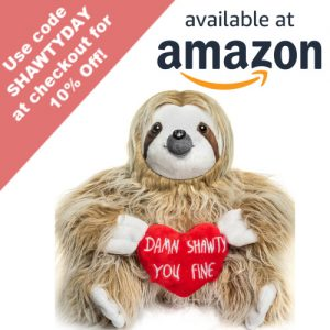 Adorable You Fine Valentine Sloth Stuffed Bear Gift Animals Coupon