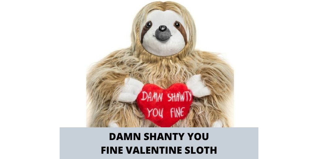 Adorable You Fine Valentine Sloth Stuffed Bear Gift Animals Coupon Social
