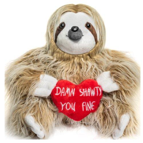 Adorable You Fine Valentine Sloth Stuffed Bear Gift Animals