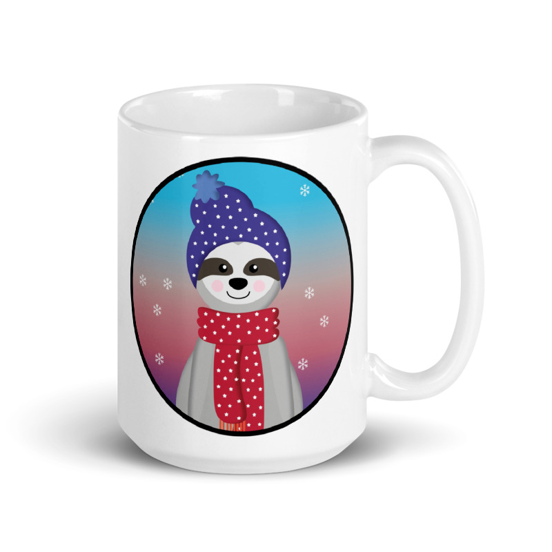 Captivating Sloth Hat and Scarf Coffee Cup