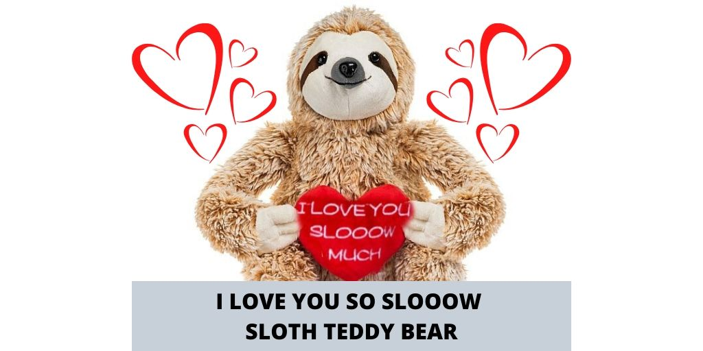 Cute Sloth I Love You Slooow Much Sloth Teddy Bear Giftscial