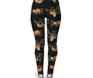 Cute Sloth Yoga Workout Leggings for Running Outdoor Sports