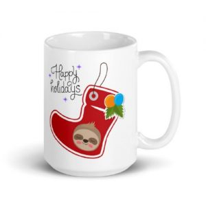 Delightful Sloth Stocking Ornament Sloth Coffee Cup