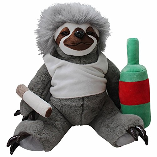 Moochie The Slacker Cuddly Sloth Plushie - Sloth Of The Day