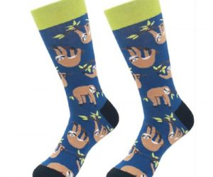 Novelty Cute Sloth Socks Fun Sloth Men Dress Socks