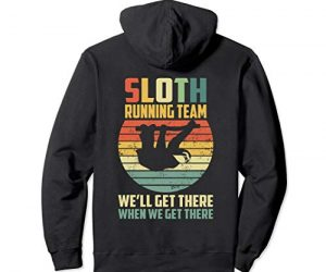 Vintage Sloth Pullover Sloth Running Team Sweater Wear