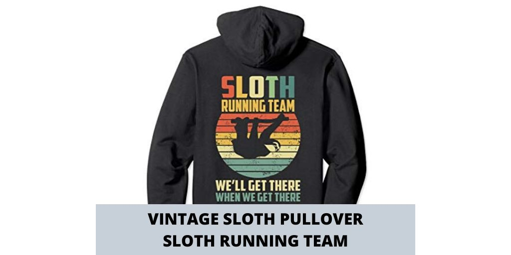 Vintage Sloth Pullover Sloth Running Team Sweater Wear Social