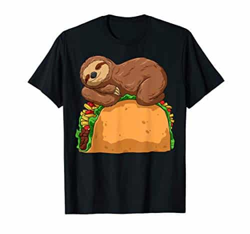 Adorable and Delicious Sloth Sleeping on Taco T Shirt