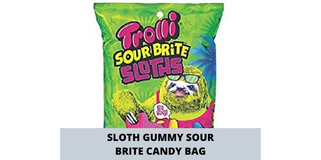Bold Trolli Sloth Gummy Sour Brite Candy Bag Social