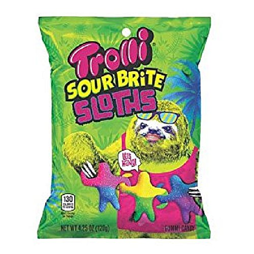 Bold Trolli Sloth Gummy Sour Brite Candy Bag