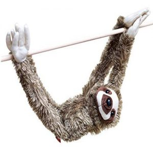Charming 28-inch Hanging Three-Toed Sloth Toy