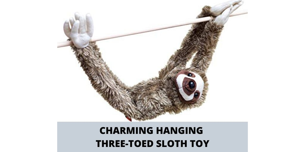 Charming 28-inch Hanging Three-Toed Sloth Toy Social