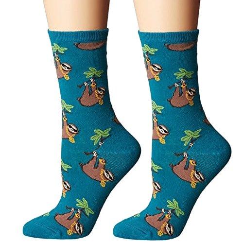 Socksmith Novelty Chic Sloth Bling Socks for Women