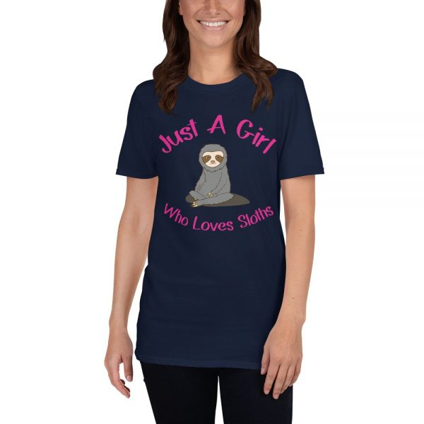 Cool Sweet Just a Girl Who Loves Sloths shirt