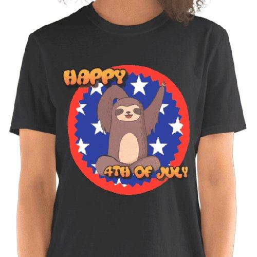 Waving Sloth Happy 4th Of July T-shirt