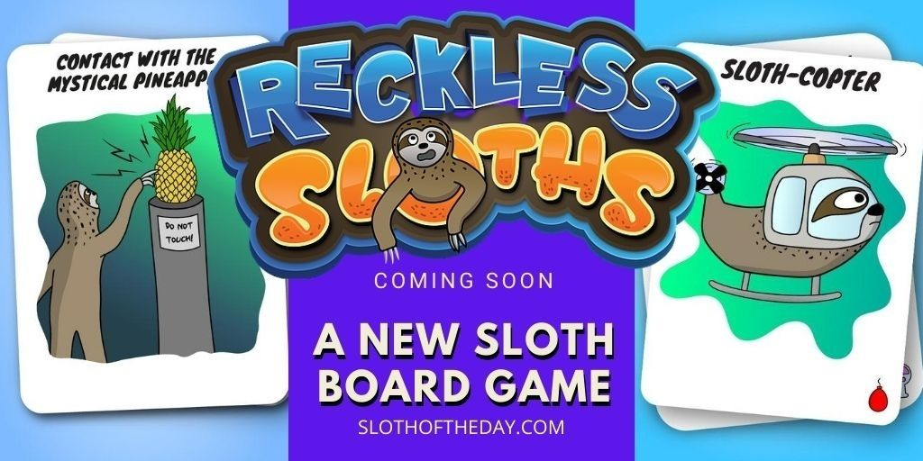 New Reckless Sloths Card Board Game