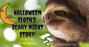 Halloween Sloth Scary Night Story by Ms Margie Sue