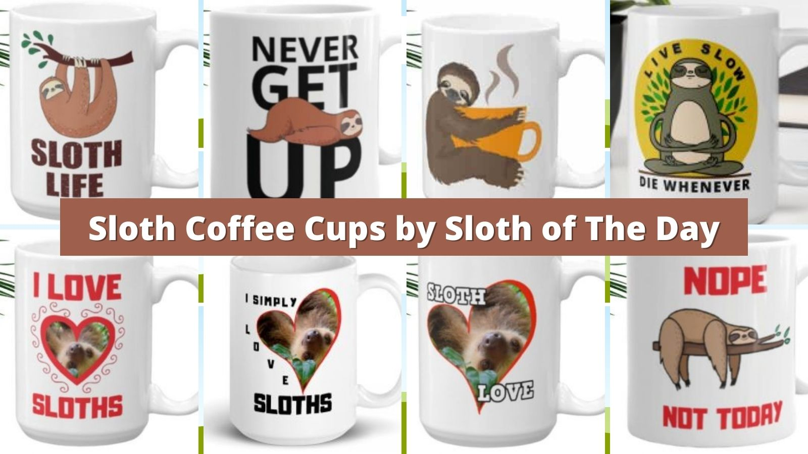 Sloth Coffee Cups by Sloth of The Day Cups