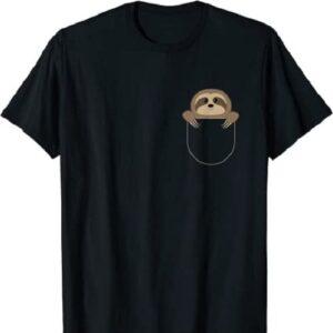 Chillin Sloth Pocket T-Shirt Funny Sloth