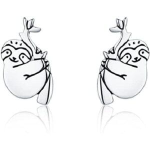Hypoallergenic Sloth Earrings for Women