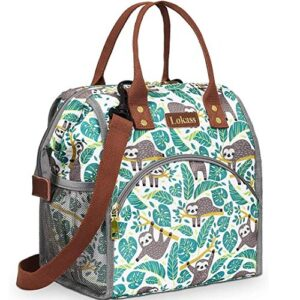 Insulated Sloth Themed Lunch Tote Bag