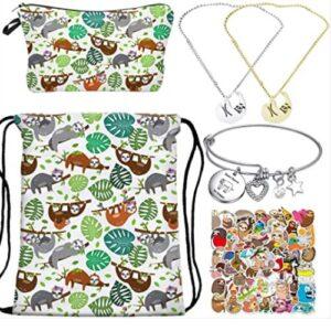 Sloth Drawstring Backpack Makeup Bag Kit