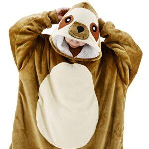 Sloth Wearable Blanket Sweatshirt Sherpa